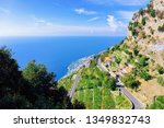 romanic road at vineyards and... | Shutterstock . vector #1349832743