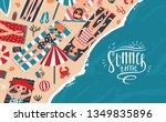 summer time. horizontal... | Shutterstock . vector #1349835896