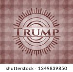 trump red geometric emblem.... | Shutterstock .eps vector #1349839850
