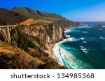 beautiful coastline in big sur...