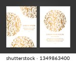 white and gold vintage greeting ... | Shutterstock .eps vector #1349863400