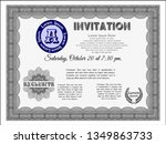 grey vintage invitation.... | Shutterstock .eps vector #1349863733