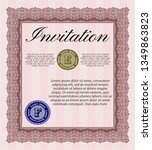 red vintage invitation. nice... | Shutterstock .eps vector #1349863823