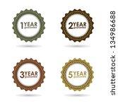 special vector guarantee sign ... | Shutterstock . vector #134986688