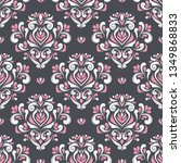 black  pink and white floral... | Shutterstock .eps vector #1349868833