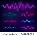 wave sound vector set. music... | Shutterstock .eps vector #1349878826
