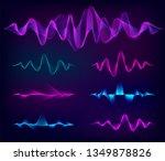 wave sound vector set. music... | Shutterstock .eps vector #1349878826