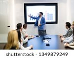 picture of business meeting in... | Shutterstock . vector #1349879249