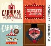 vintage carnival fun fair... | Shutterstock .eps vector #134988260
