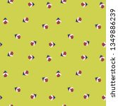 vector cute cartoon  ladybugs... | Shutterstock .eps vector #1349886239