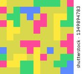 vector abstract pixel art... | Shutterstock .eps vector #1349894783