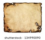old  paper with burnt edges... | Shutterstock .eps vector #134990090