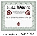 green vintage warranty... | Shutterstock .eps vector #1349901806