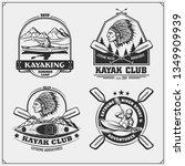 kayak and canoe emblems  labels ...   Shutterstock .eps vector #1349909939