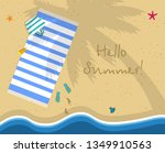 hello summer square banner. top ... | Shutterstock .eps vector #1349910563