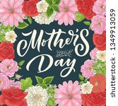 mother's day lettering for gift ... | Shutterstock .eps vector #1349913059