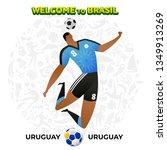 vector illustration football... | Shutterstock .eps vector #1349913269