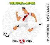 vector illustration football... | Shutterstock .eps vector #1349913293