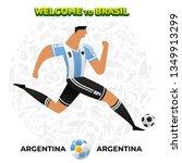 vector illustration football... | Shutterstock .eps vector #1349913299