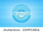 inconsistent water emblem. | Shutterstock .eps vector #1349914826