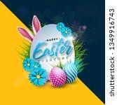 happy easter holiday design...   Shutterstock .eps vector #1349916743