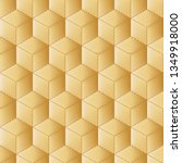 gold background  abstract cubes.... | Shutterstock .eps vector #1349918000