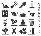 gardening icons set on white... | Shutterstock .eps vector #1349918663