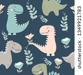cute dinosaur drawn as vector... | Shutterstock .eps vector #1349921783