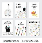 collection of children cards... | Shutterstock .eps vector #1349923256