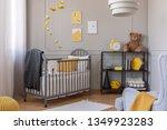 dark grey blanket on wooden...   Shutterstock . vector #1349923283