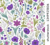 spring magic. seamless pattern. ... | Shutterstock .eps vector #1349925836