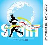 runner. sport vector... | Shutterstock .eps vector #134992670