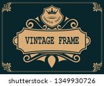 decorative frame in vintage... | Shutterstock .eps vector #1349930726