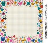 cartoon doodle border | Shutterstock .eps vector #134993216
