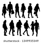 set of young and adult men and...   Shutterstock .eps vector #1349935349