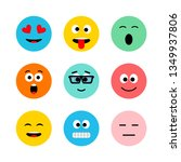 emoji vector icon  expression ... | Shutterstock .eps vector #1349937806