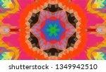 geometric design  mosaic of a... | Shutterstock .eps vector #1349942510