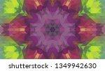 geometric design  mosaic of a... | Shutterstock .eps vector #1349942630
