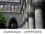 courtyard of a cathedral in... | Shutterstock . vector #1349943656