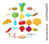 workpiece icons set. cartoon... | Shutterstock . vector #1349946893