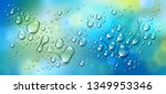 water rain drops or... | Shutterstock .eps vector #1349953346