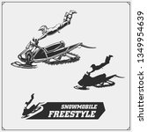 snowmobile emblems  labels ... | Shutterstock .eps vector #1349954639