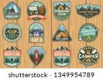set of summer camp badges.... | Shutterstock .eps vector #1349954789