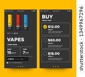 vape selling app interface...