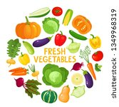 colorful cartoon vegetables... | Shutterstock .eps vector #1349968319