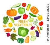 colorful cartoon vegetables... | Shutterstock .eps vector #1349968319