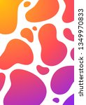 colorful liquid cover. wavy... | Shutterstock .eps vector #1349970833