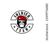 soldier logo design | Shutterstock .eps vector #1349976680