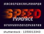 speed alphabet font. fast wind...   Shutterstock .eps vector #1350013343