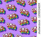 seamless pattern with word... | Shutterstock .eps vector #1350024059